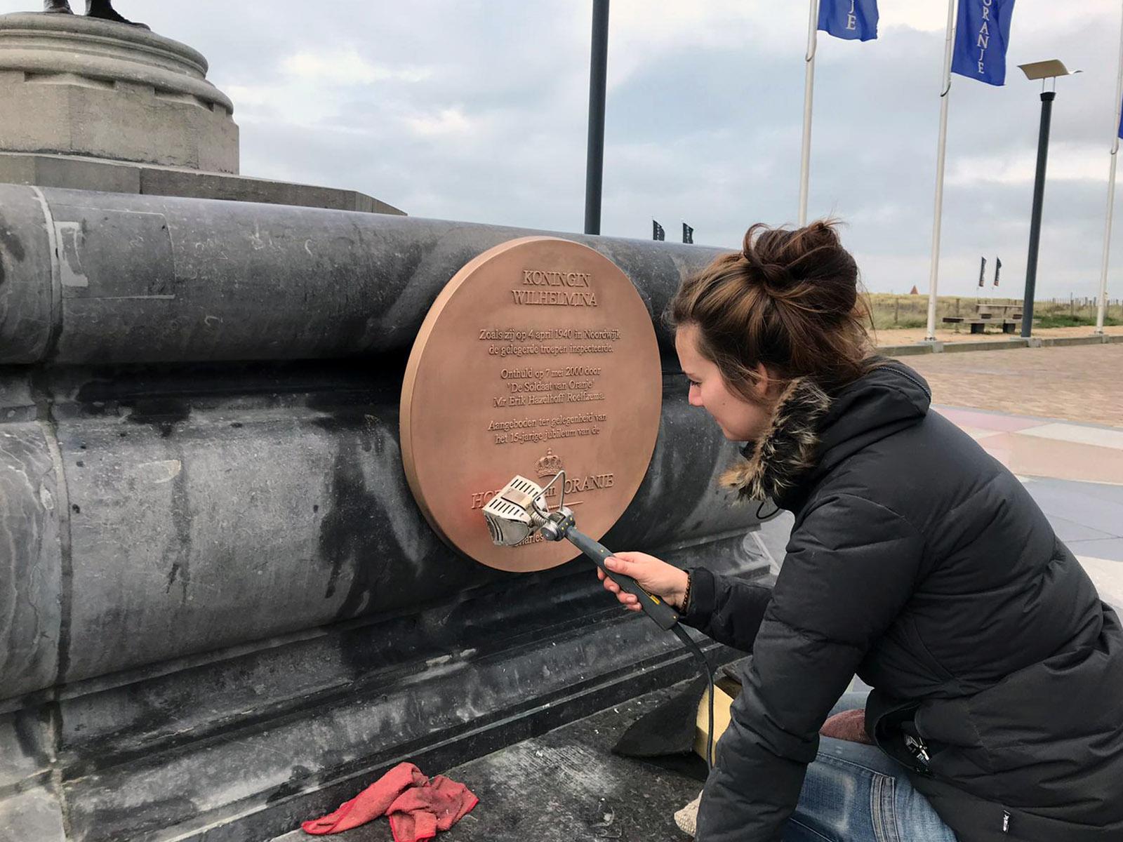 Laser reiniging monument