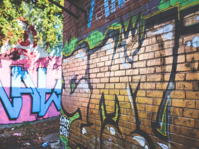 Laser reiniging monument graffiti